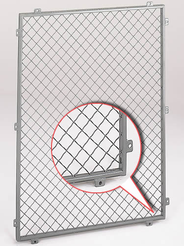 Metal Mesh Screen Panels : Wire mesh partitions for restricted areas