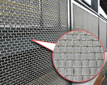 Wire Mesh Partitions for Restricted Areas